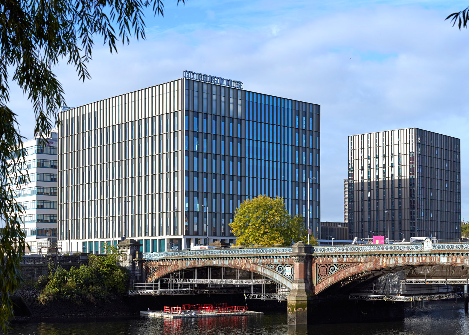 City of Glasgow College, Riverside Campus by Michael Laird Architects & Reiach and Hall Architects.Photograph by Keith Hunter