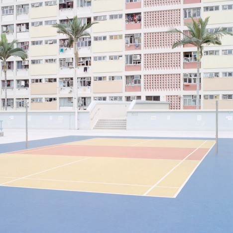Ward Roberts' photographs capture the colours of sports courts around the world