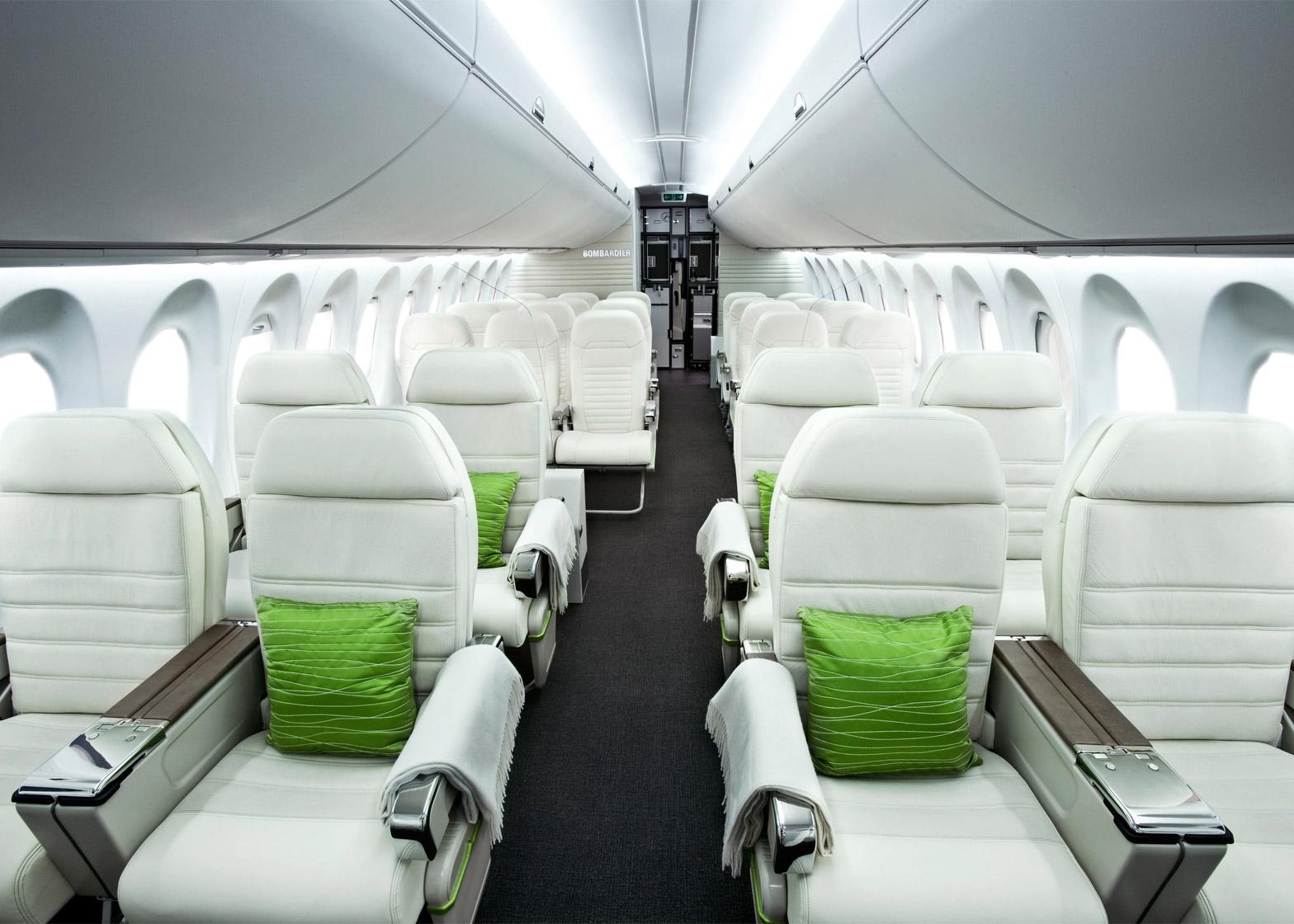 Bombardier's CS100 aircraft