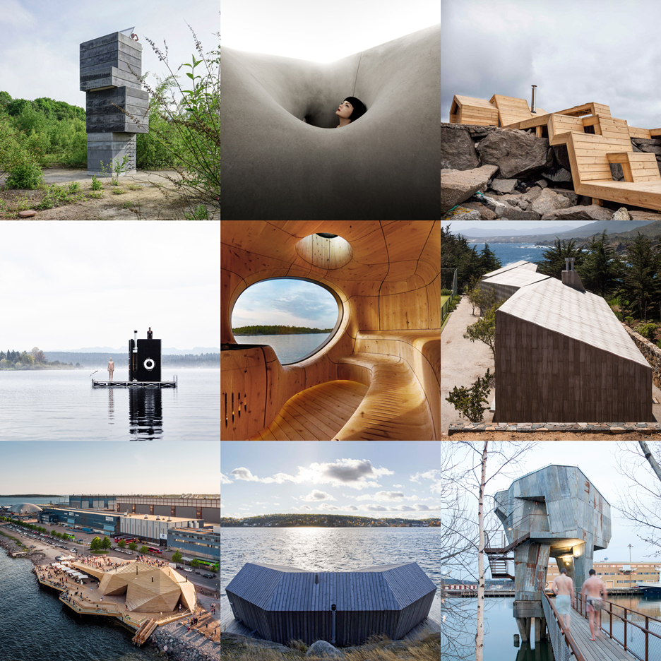 Dezeen's new architecture Pinterest board is full of stunning saunas