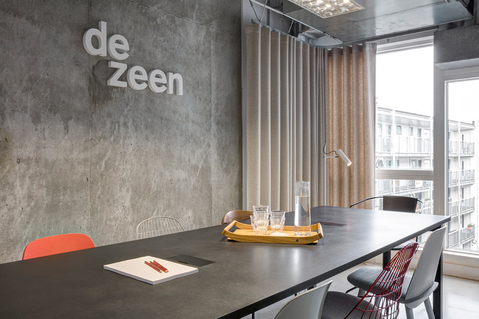 The Dezeen office in Hoxton, London designed by Pernilla Ohrstedt