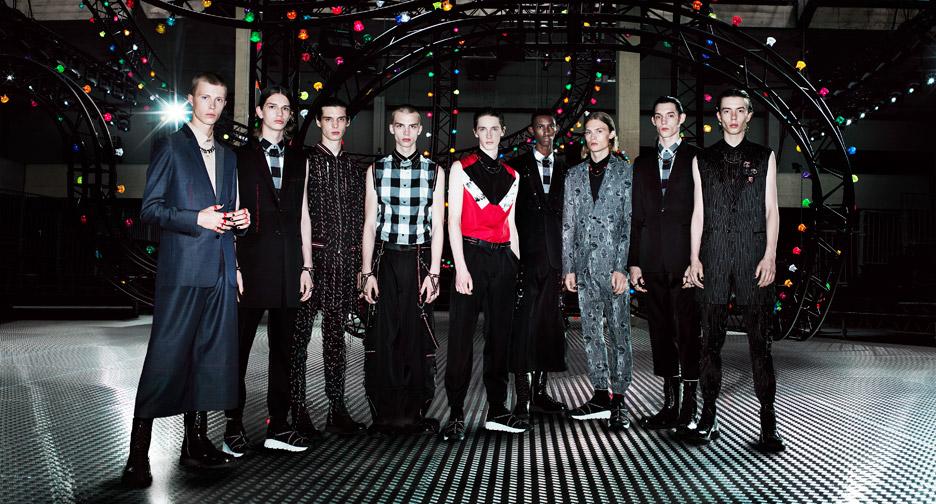 Dior Homme summer 2017 catwalk set by Villa Eugenie