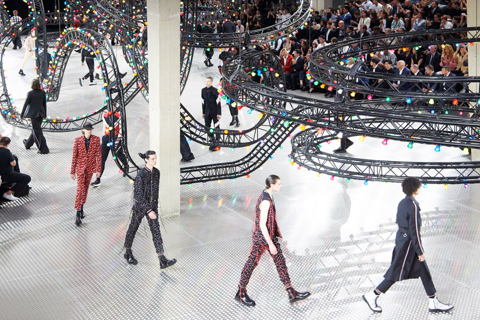 Dior Homme summer 2017 catwalk set by Villa Eugenie