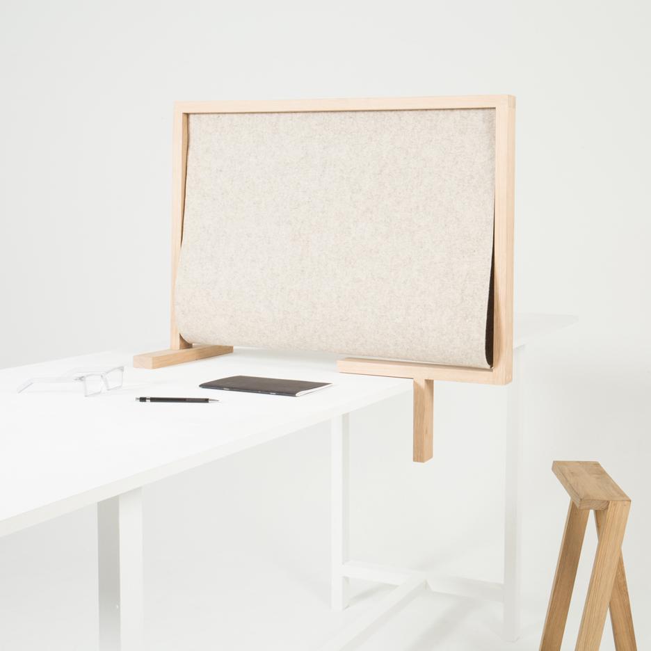 Pierre-Emmanuel Vandeputte designs portable desk divider Diplomate