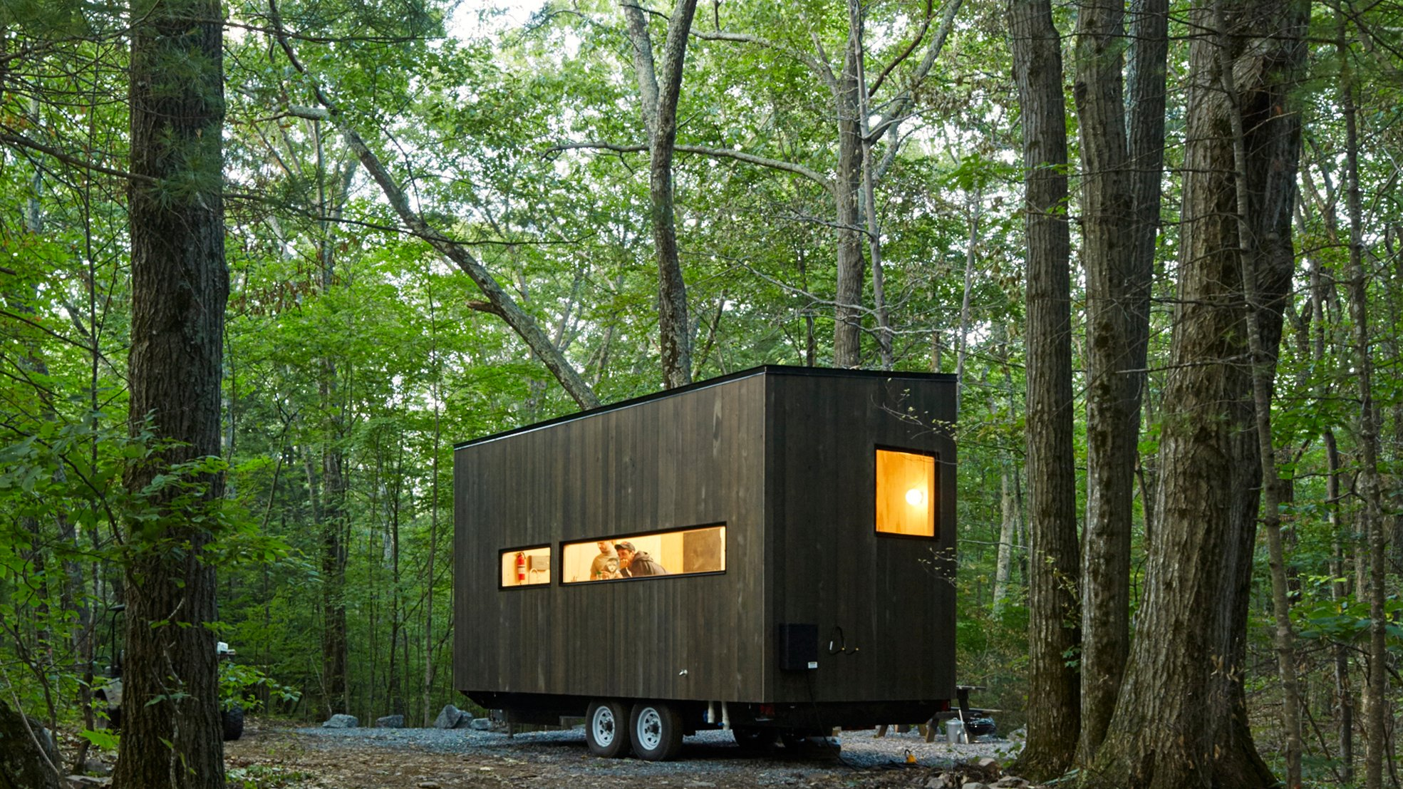 Harvard students create holiday micro cabins for city dwellers
