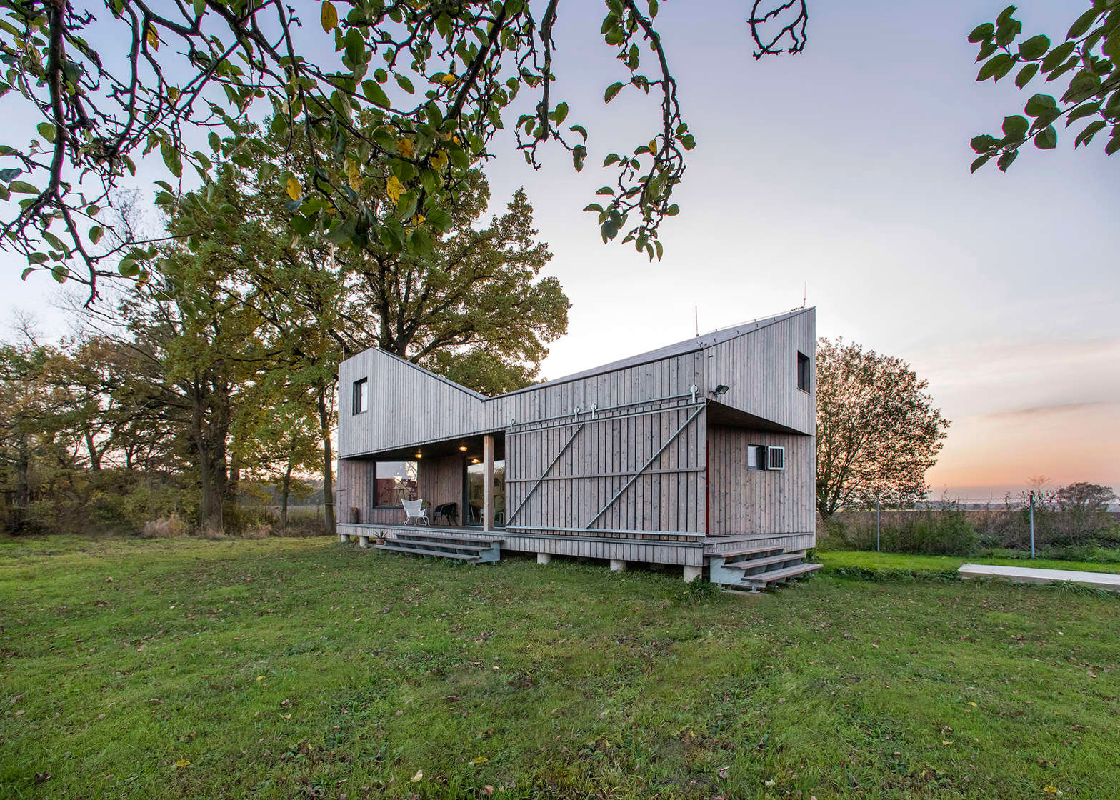 Energy Efficient Wooden House Zilvar by ASGK Design
