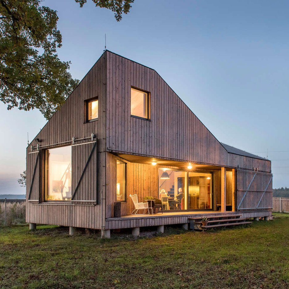 House zilvar by asgk design is an angular wooden home in for Efficiency house