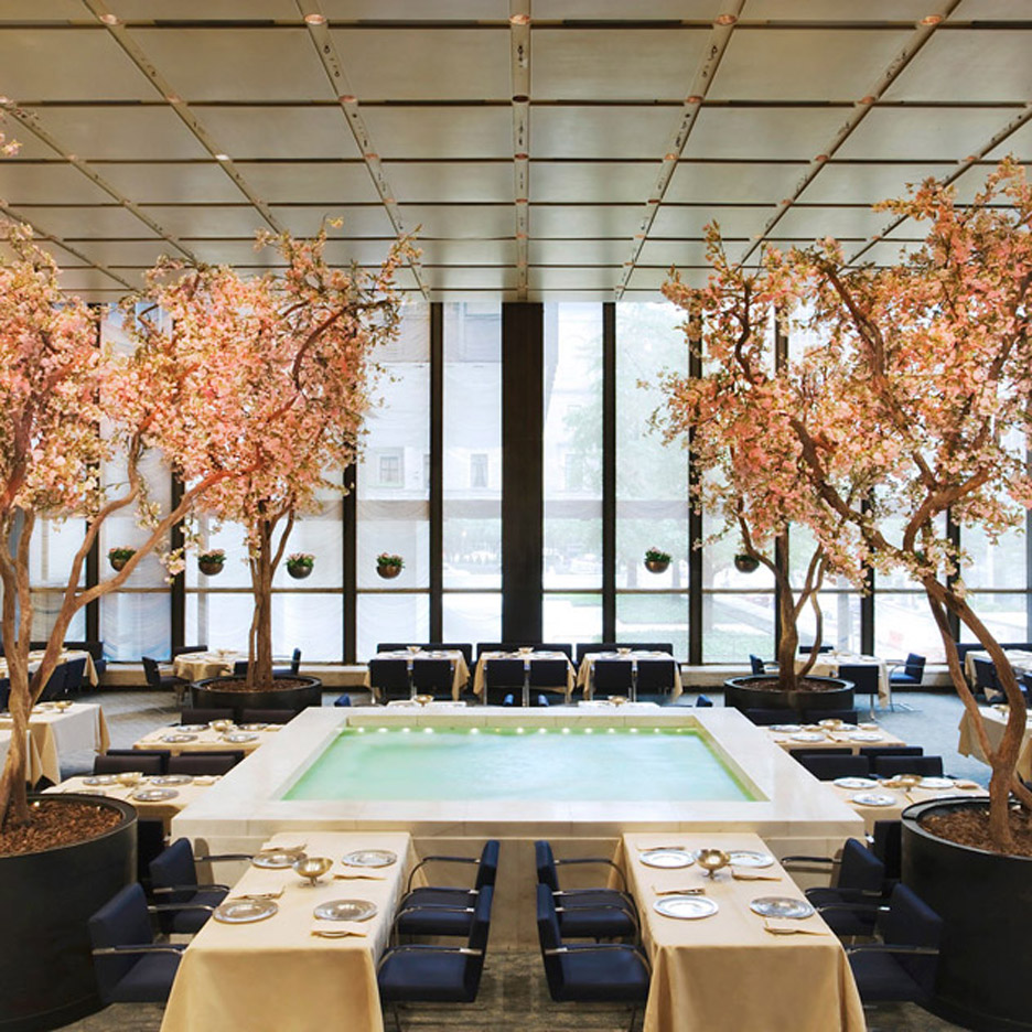 Auction of Philip Johnson's The Four Seasons restaurant interior raises over $4.1 million