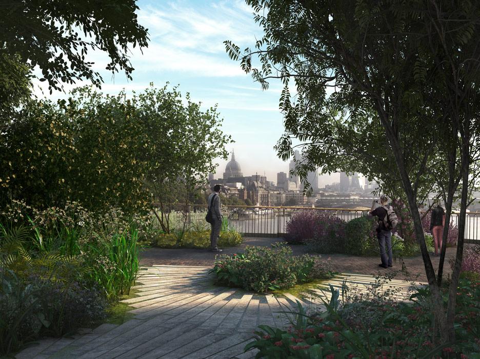 Virtual reality movie offers a preview of Thomas Heatherwick's Garden Bridge