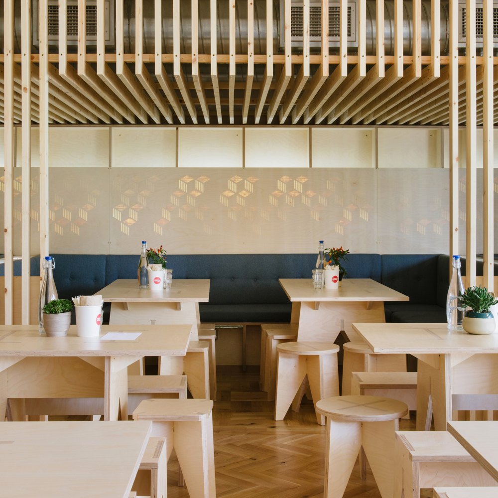 "Fleet Architects creates timber ""nest"" and zigzagging bar for east London brewery"