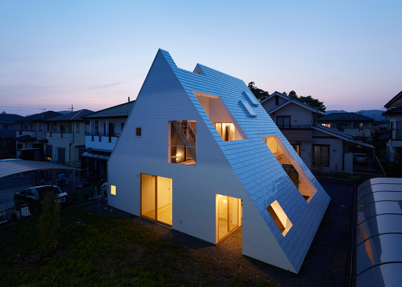 10 houses featuring excessively steep gable roofs