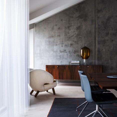 Studio David Thulstrup brings international flavour to Scandinavian apartment