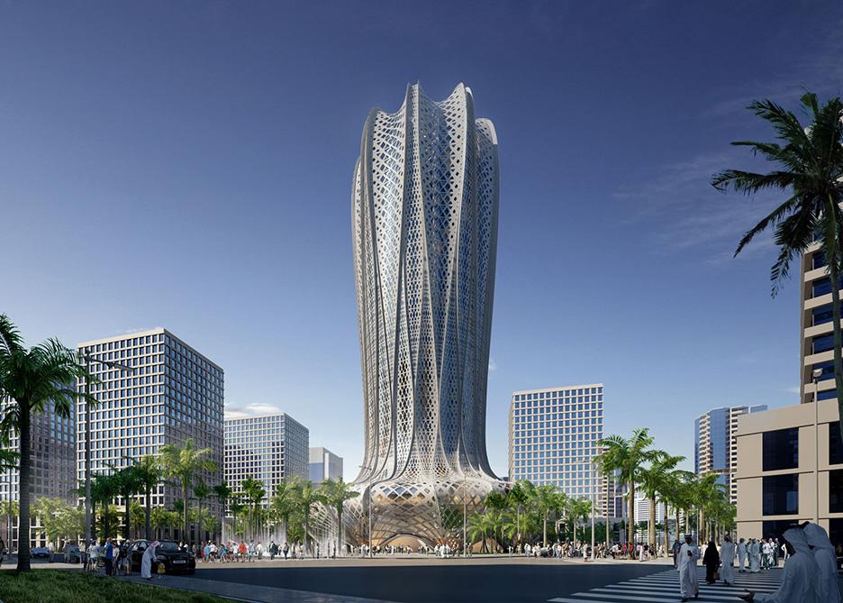 Lusail City hotel by Zaha Hadid Architects