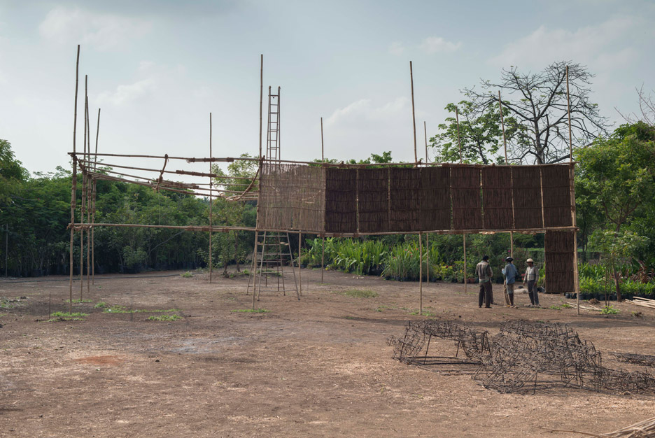 This year's MPavilion by Studio Mumbai is the largest bamboo structure ever built in Australia