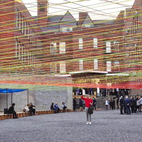 Escobedo Soliz weaves colourful ropes across MoMA PS1 courtyard
