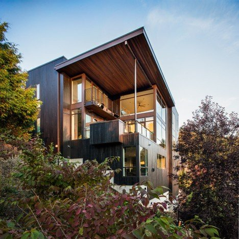 Scott Edwards Architecture creates home with acoustically separate spaces for a Portland family