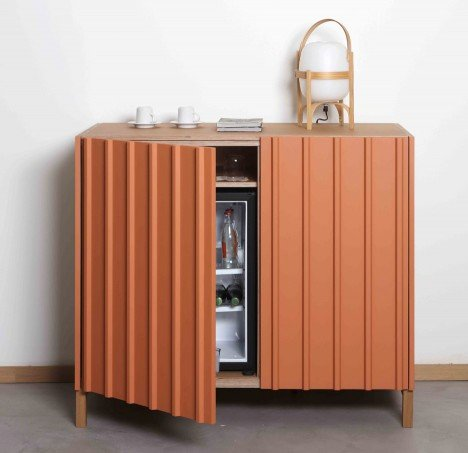 Spanish design studio Papila designs Nature, a collection of cabinets for the hotel industry