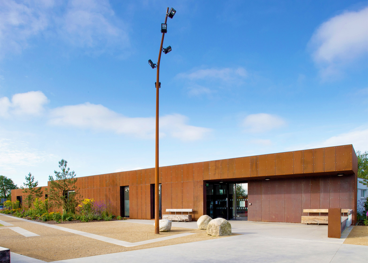 A 1960s portal frame structure has been refurbished at Nenagh Leisure Centre by ABK Architects in County Tipperary, Ireland
