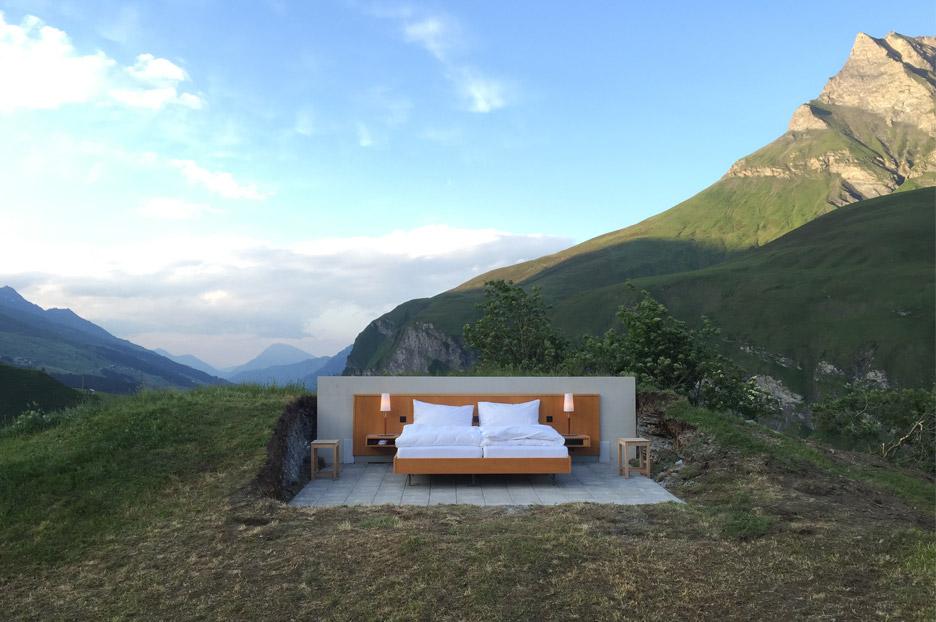 هتلی یک تخته بدون دیوار در سوئیس