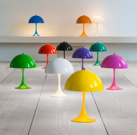 Louis Poulsen releases colourful mini version of 1971 Panthella lamp