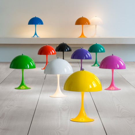 Louis Poulsen releases colourful mini version of 1971 Panthella lamp