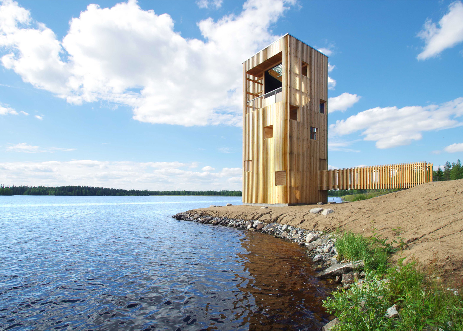 Periscope tower by Ooppea in Finland