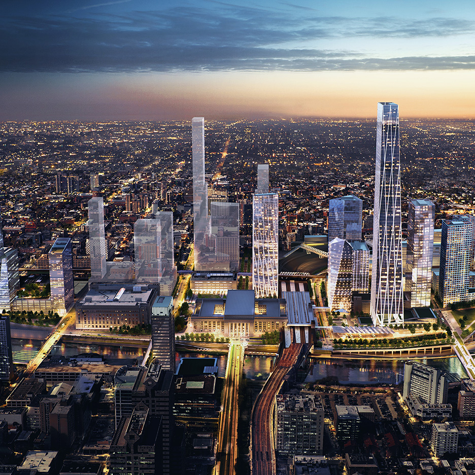 SOM unveils masterplan for Philadelphia's 30th Street Station district