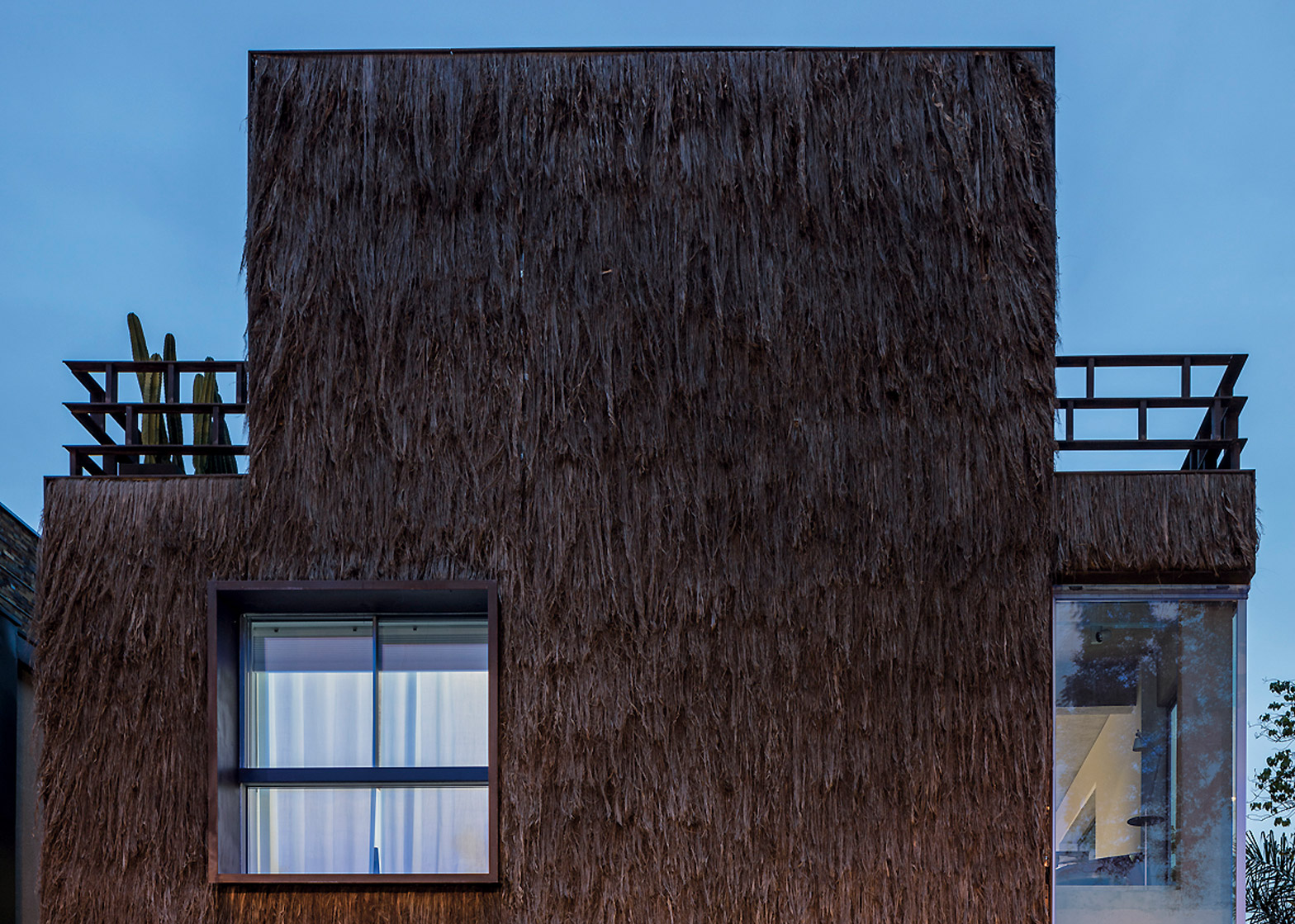Campanas Brothers use palm fibre to give Sao Paulo house hairy texture
