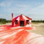 Katharina Grosse gives colourful makeover to decaying building at Rockaway Beach