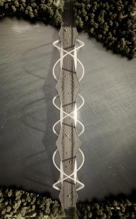 Penda designs Olympic bridge made up of intersecting rings
