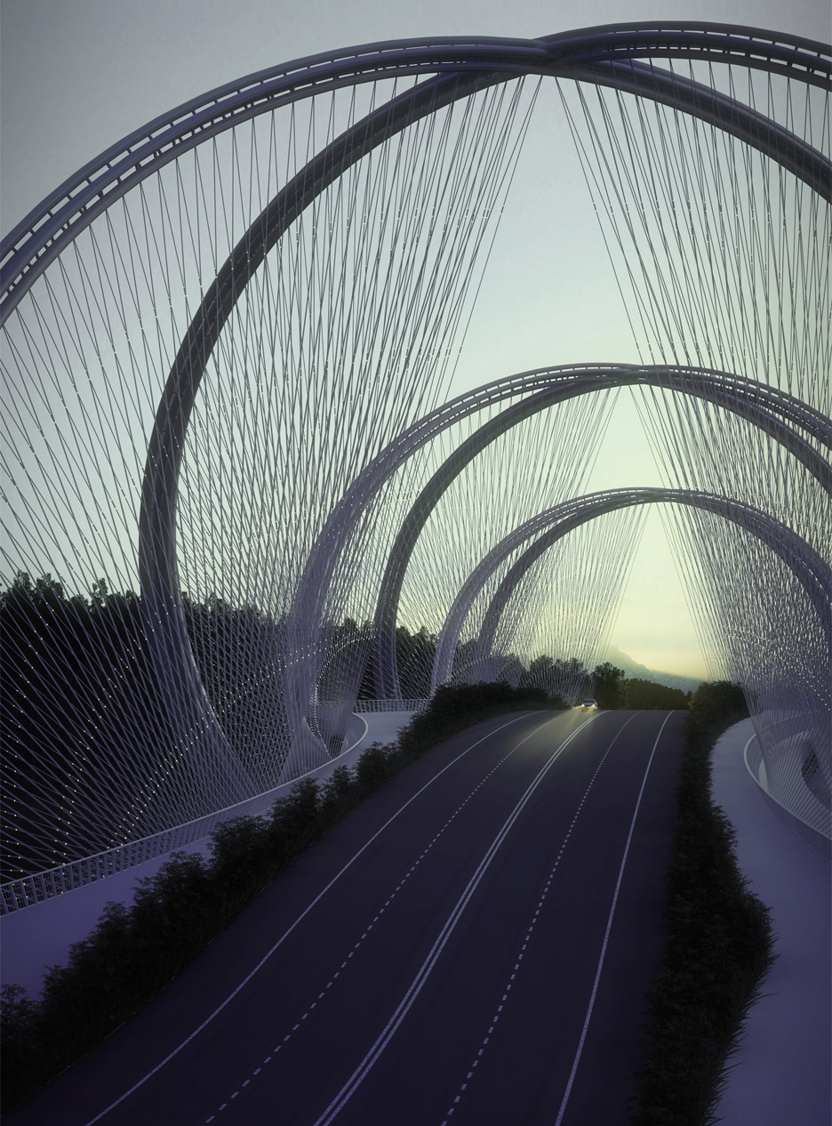 San Shan bridge in Beijing, China by Penda