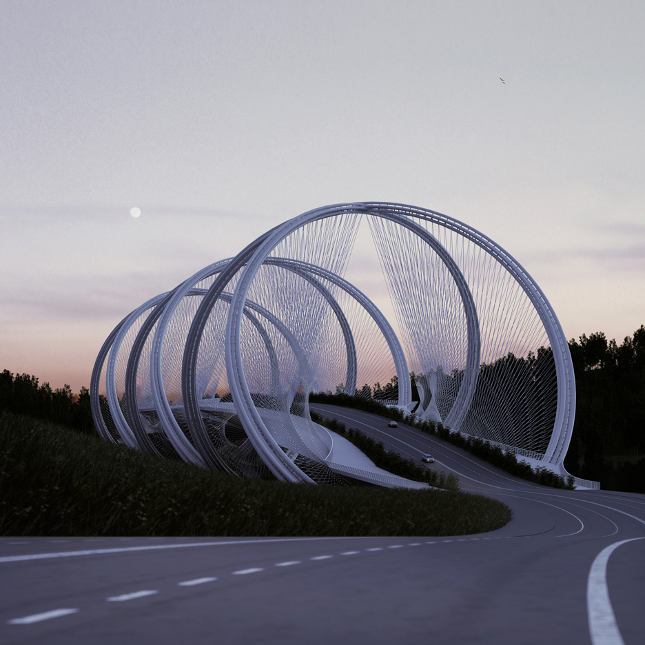 Penda designs Olympic bridge made up of intersecting rings