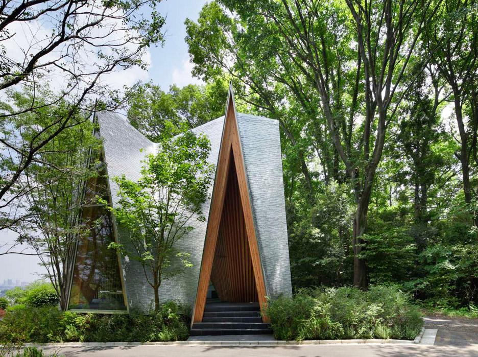 Sayama Forest Chapel in Japan by Hiroshi Nakamura and NAP