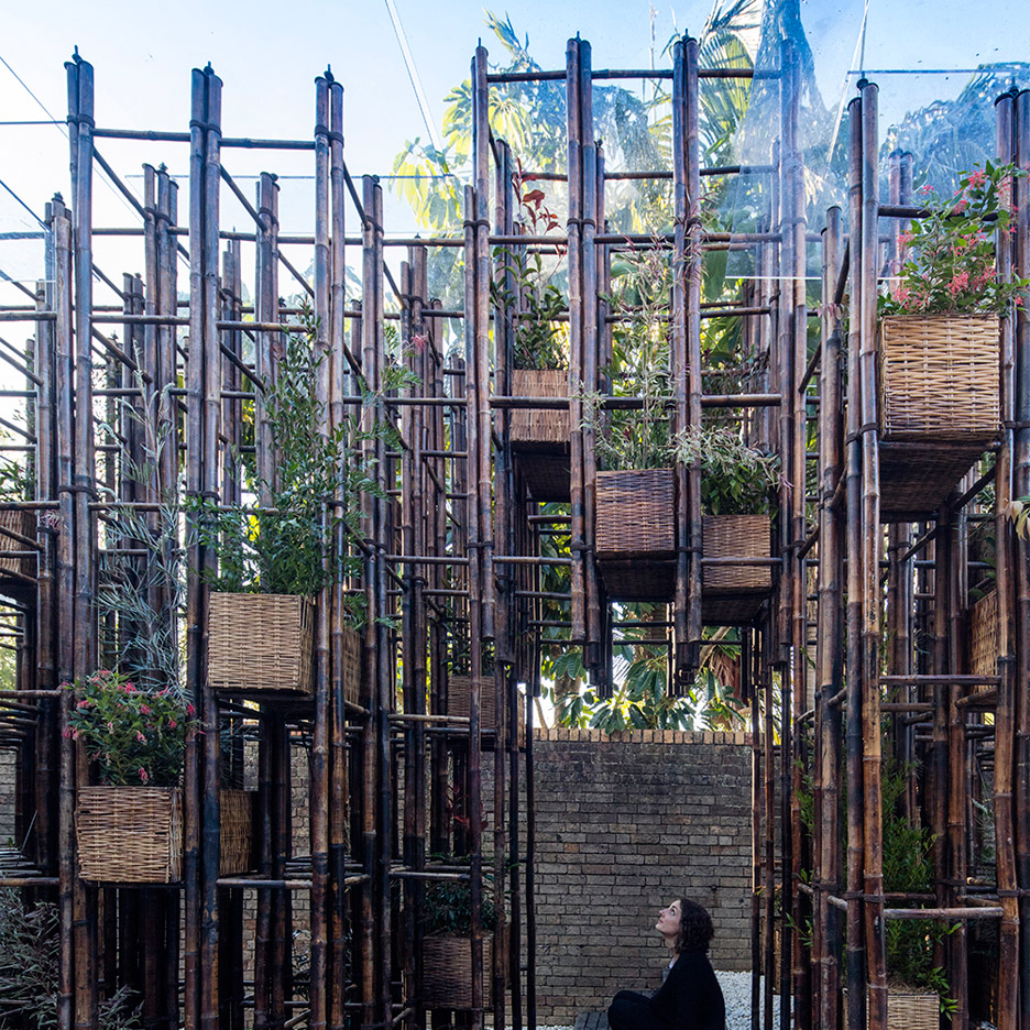 Vo Trong Nghia uses bamboo ladders to build pavilion at Sydney's SCAF gallery
