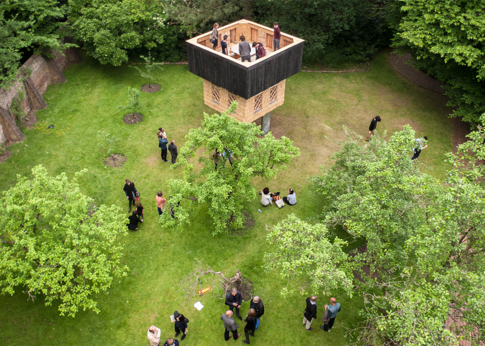 Seminar House Pavilion by Kingston University students and Terunobu Fujimori