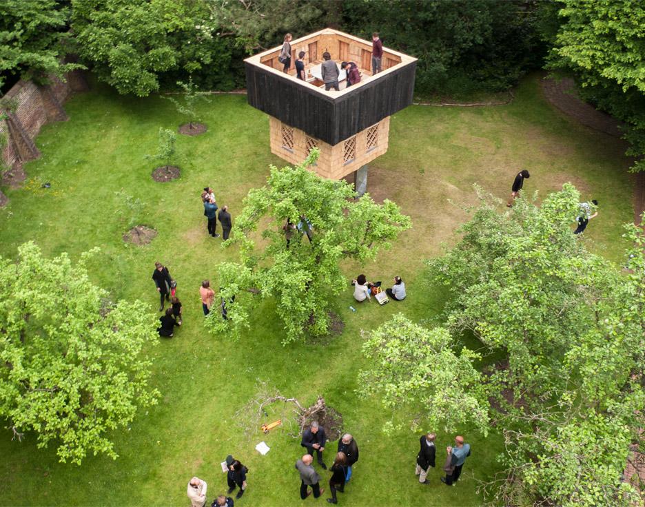 Seminar House Pavilion by Kingston University students and Terunobu Fujimori
