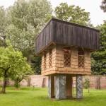 Terunobu Fujimori works with Kingston University students to create charred timber pavilion