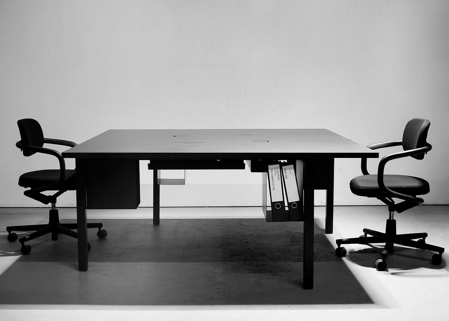 Bespoke Silhouette desks designed by Pernilla Ohrstedt for the Dezeen office