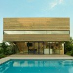 Sleeping alcove projects from Arkansas pool house by Marlon Blackwell