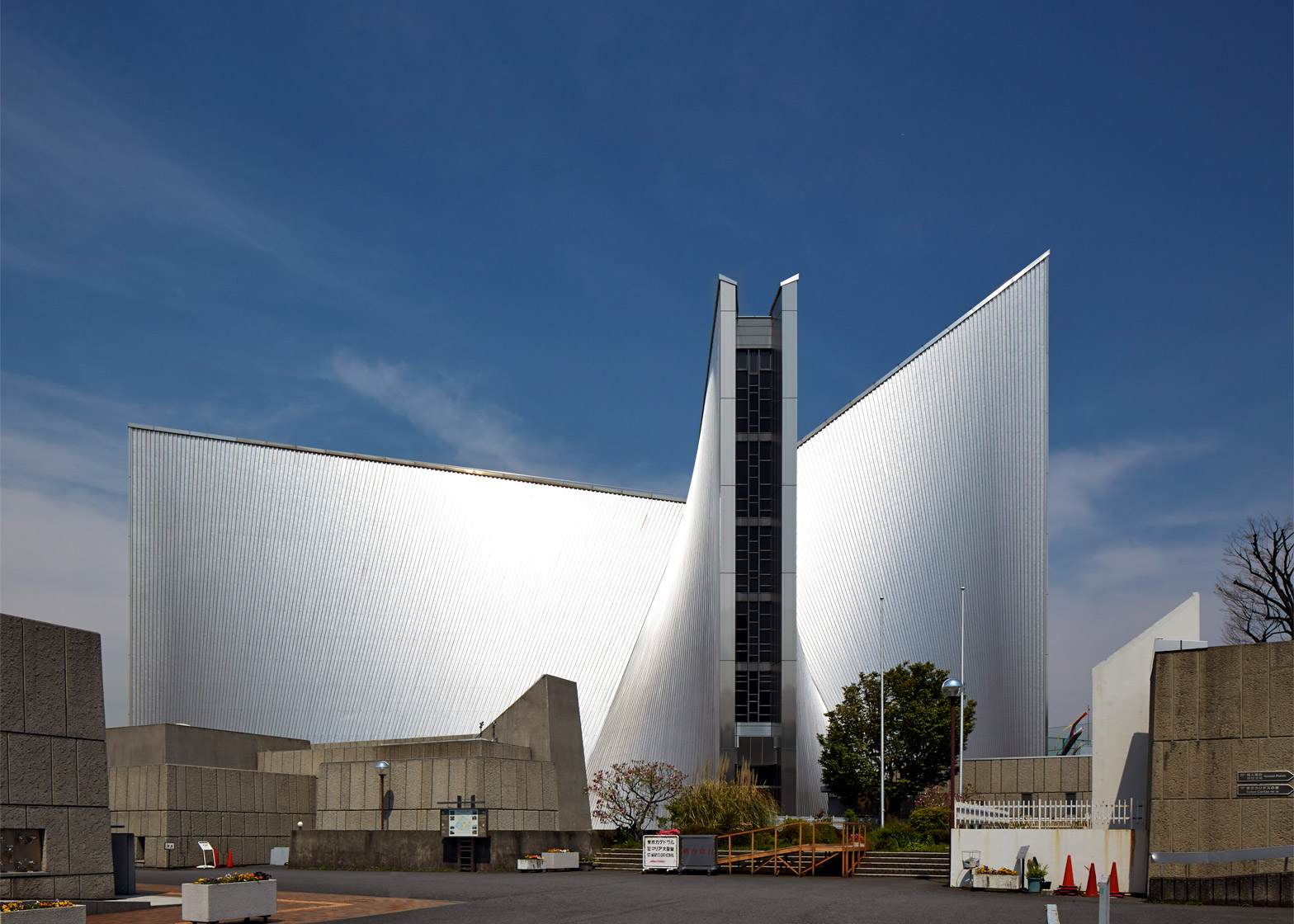 Kenxo Tange's St Mary's Cathedral photographed by Edmund Sumner
