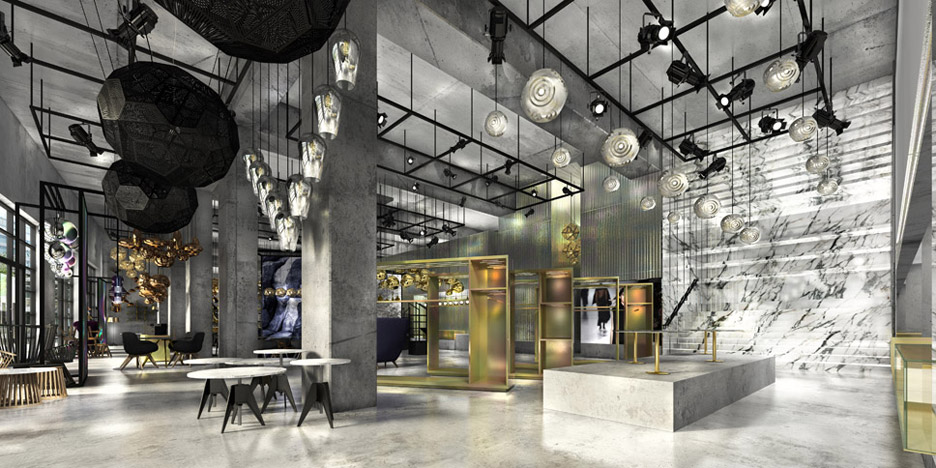 Rendering of Tom Dixon's new space in Los Angeles