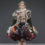 Viktor & Rolf's Vagabonds wear haute-couture garments made from scraps of recycled fabrics
