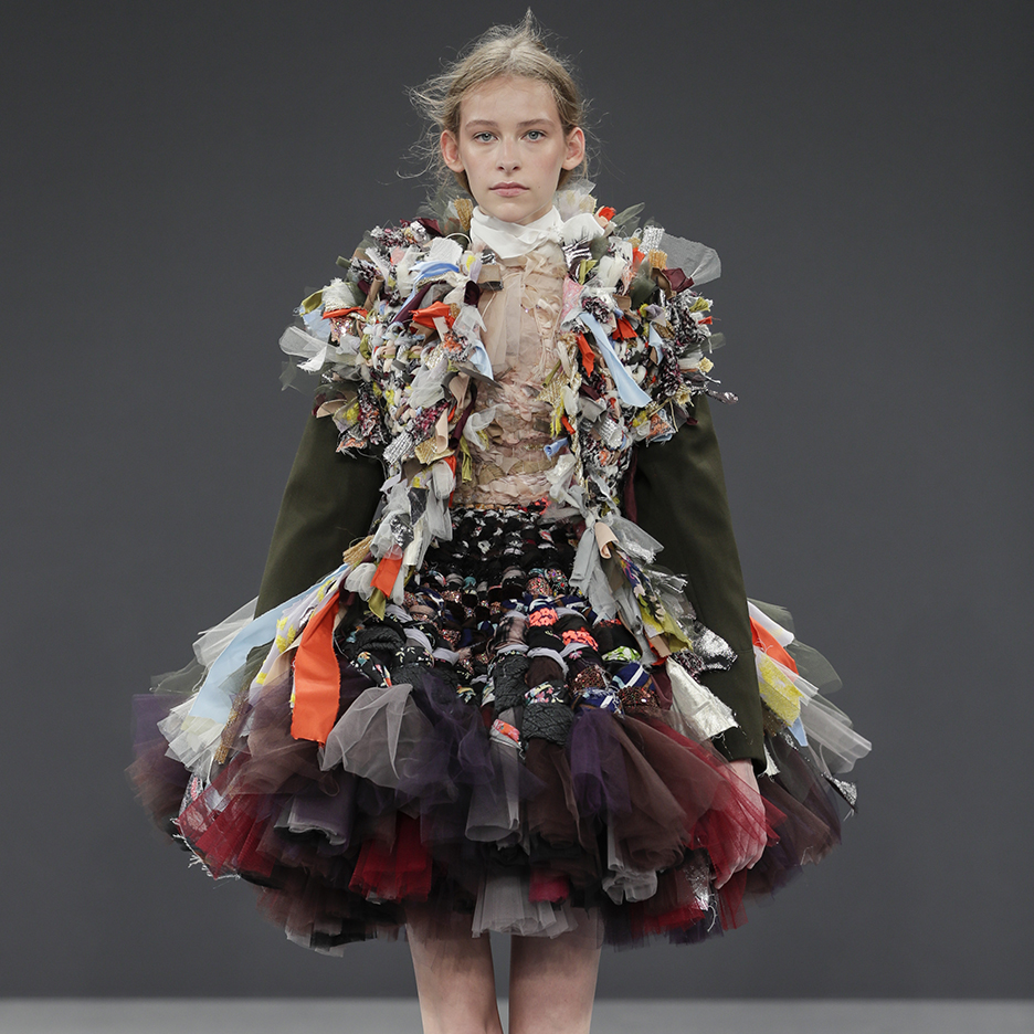 viktor rolf couture garments made from recycled fabrics