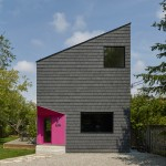Bright pink doorway marks the entrance to Reigo and Bauer's Winona House in Toronto