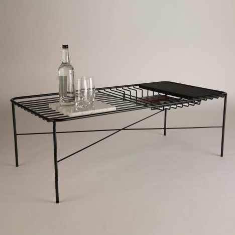 George Riding's Wire Series coffee table comes with integrated accessories