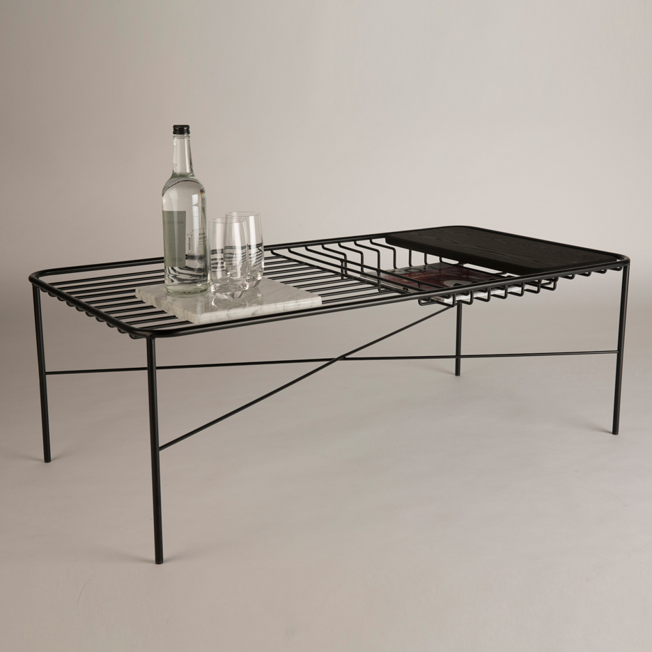 George riding s wire series coffee table comes with for Wire coffee table