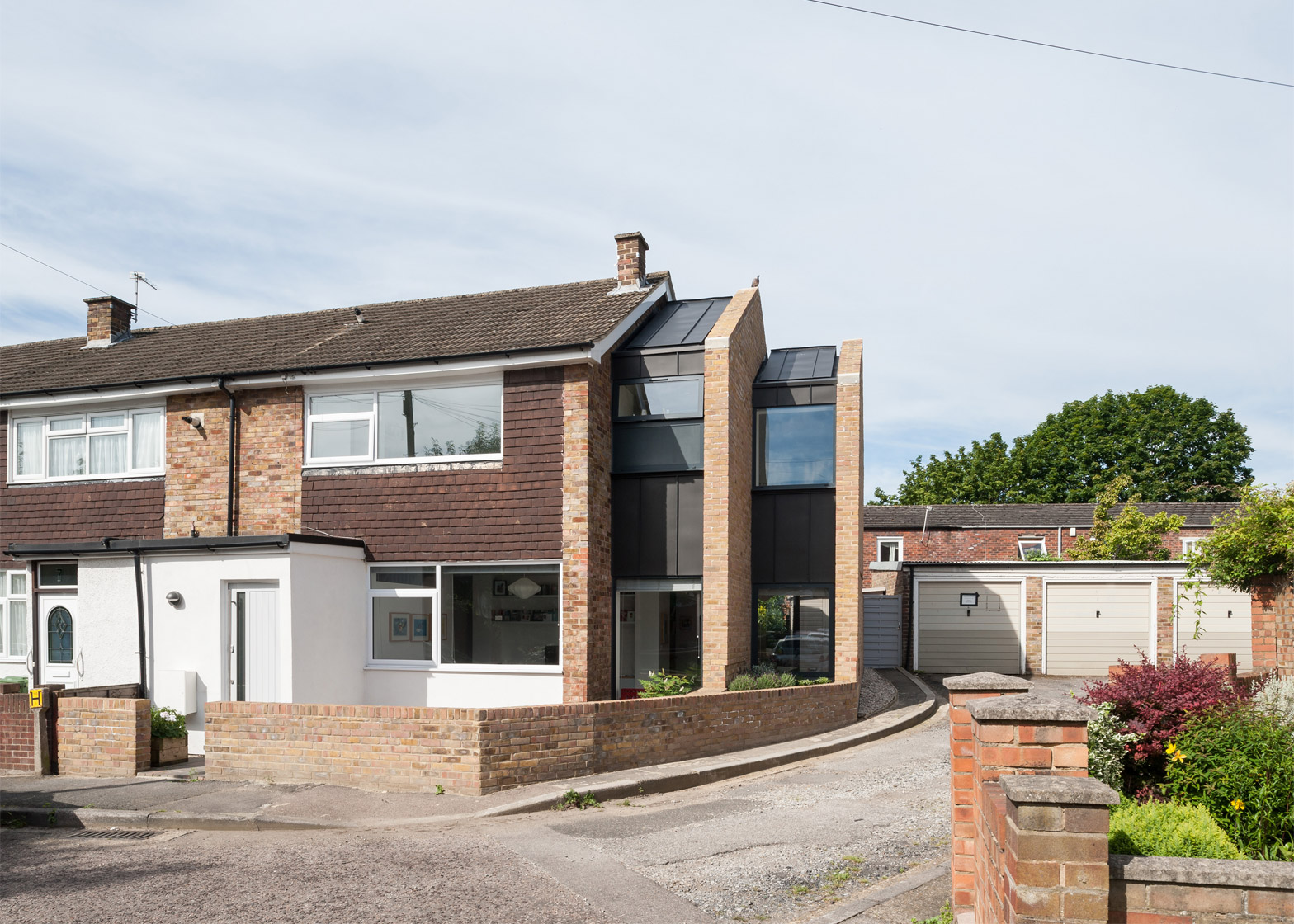 Selencky parsons adds stepped extension to 1960s terraced for What is terrace house