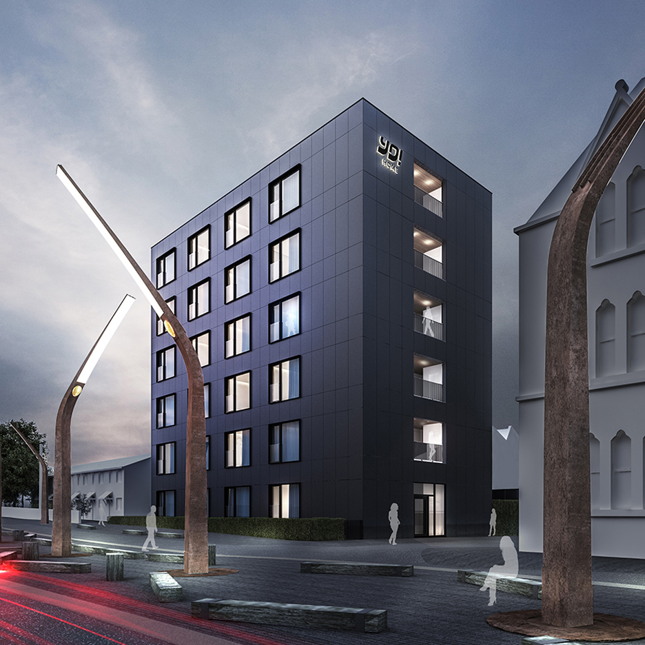 Yo Home apartments proposed for Manchester by the company behind Yo Sushi and designed by Glenn Howells Architects