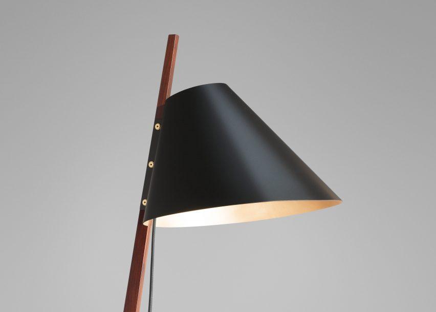 Ilse Crawford designs brass-footed floor lamp for Kalmar Werkstätten