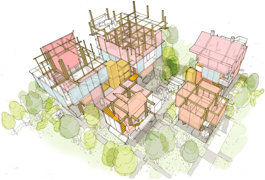 "Matt Lucraft confronts London's housing crisis with ""mock-tudor-cum-metabolist"" building system"